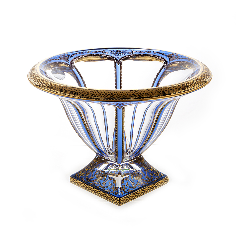 Панел Империя синяя Ваза для фруктов Astra Gold 20,5 см