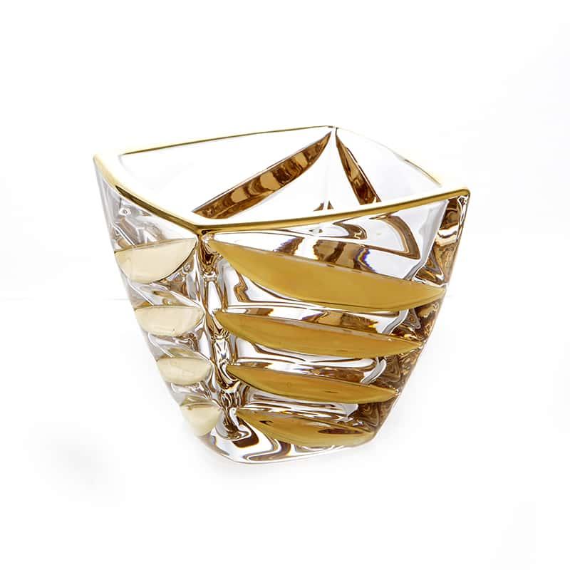 Факет Блестящая 2 Ваза для конфет Union Glass 14 см.