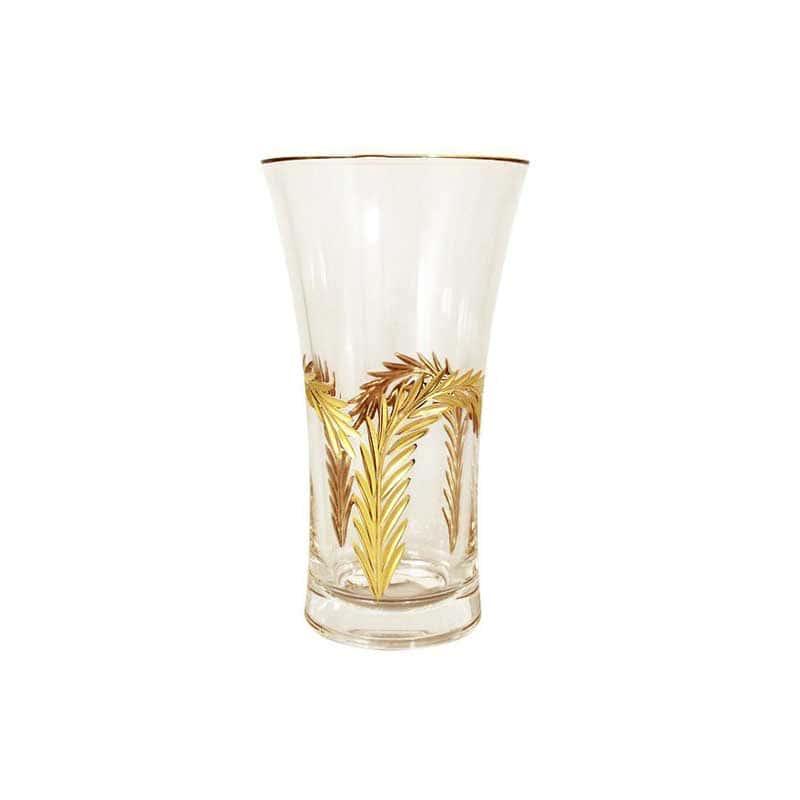 Золотая ветвь Хрустальная ваза для цветов Same Decorazione Италия 25 см.