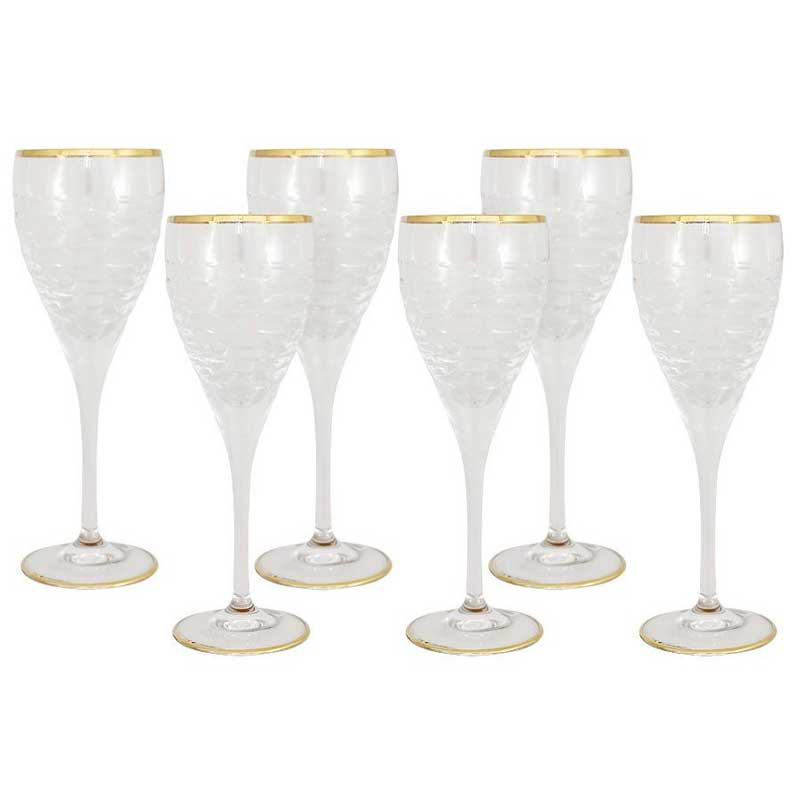 Венето Набор из 6 хрустальных бокалов для вина Same Decorazione из Италии