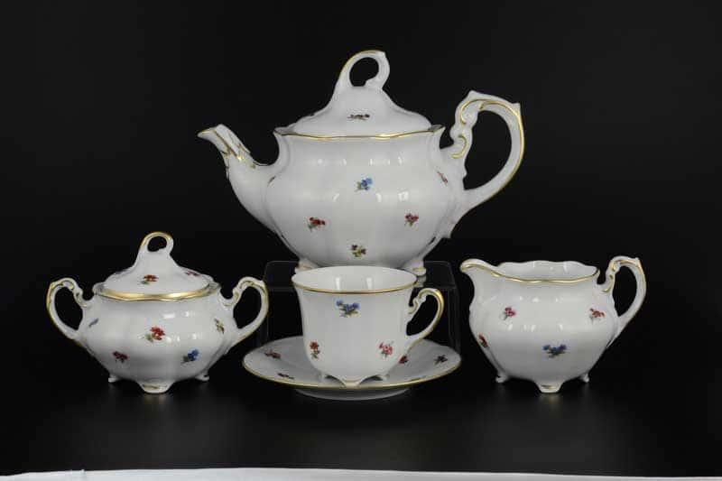 Болеро Мелкие цветы Чайный сервиз Royal Porcelain на 6 персон 17 предметов