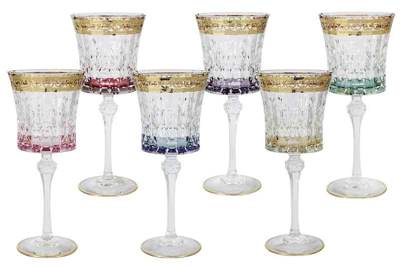 Цветная Флоренция Набор из 6 бокалов для вина Same Decorazione Италия