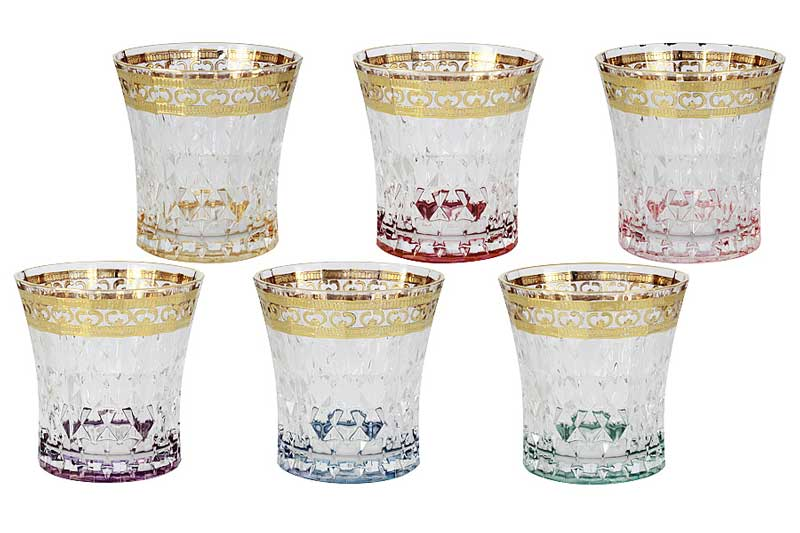 Цветная Флоренция Набор из 6 стаканов для виски Same Decorazione Италия