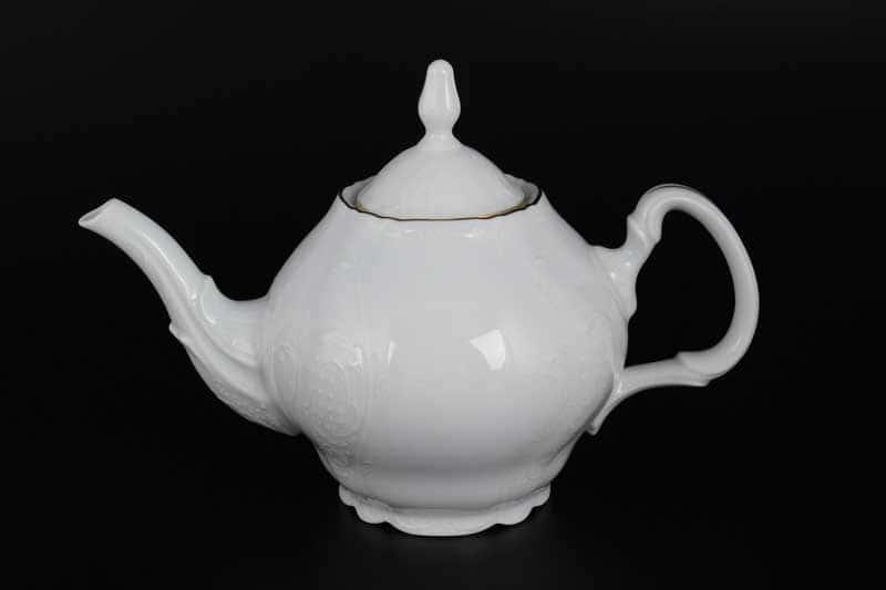 Бернадотт Белый узор Чайник 0,7 л