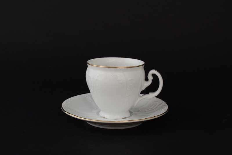 Бернадотт Белый узор 11011 Набор кофейных пар 90 мл