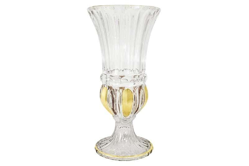 Пиза золото Ваза для цветов хрустальная Same Decorazione из Италии