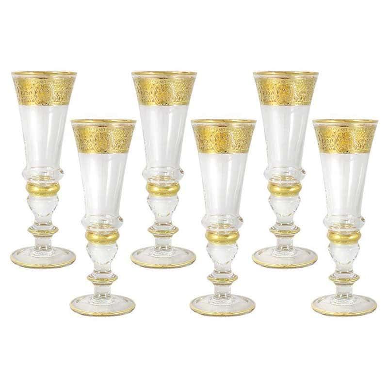 Империя Набор из 6 бокалов для шампанского Same Decorazione из Италии