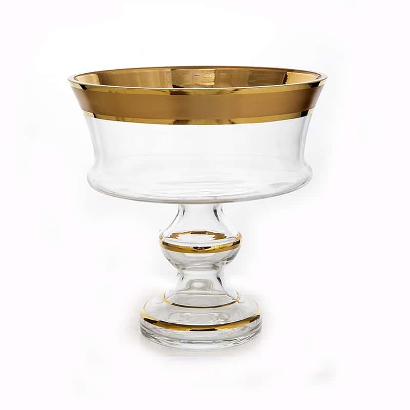 Золотая дорожка 6999 Ваза для фруктов Union Glass 24 см.