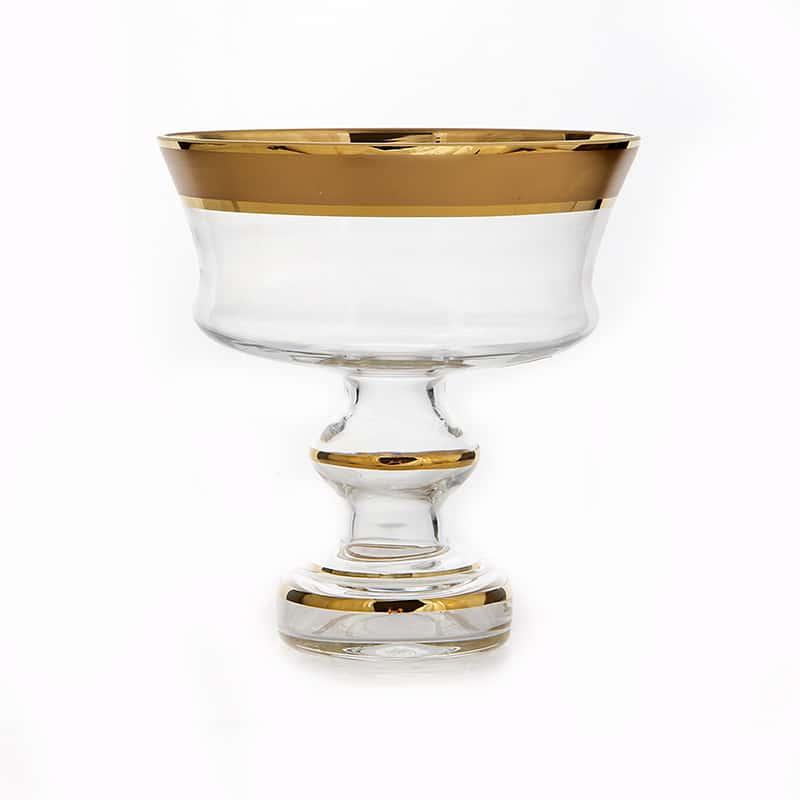 Золотая дорожка 6999 Ваза для конфет Union Glass 15 см.