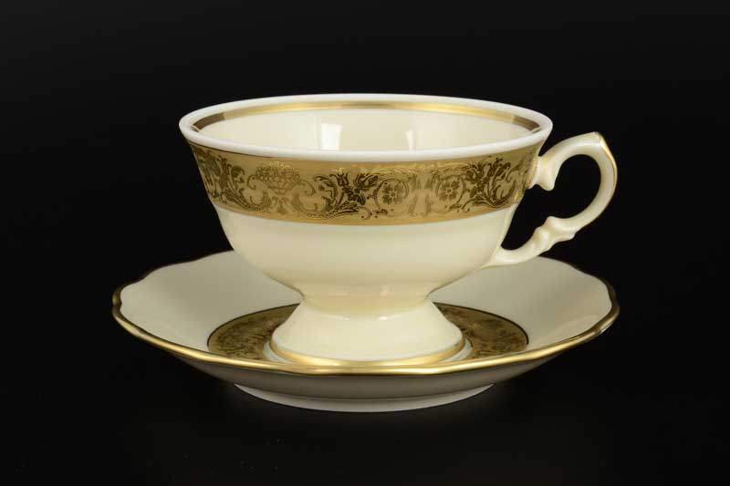Набор чайных пар Royal Czech Porcelain 250 мл (6 пар)