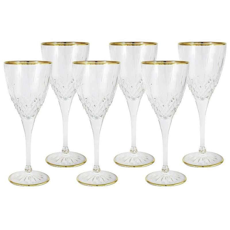 Уэльс Набор из 6 бокалов для вина Same Decorazione Италия в подарочной упаковке