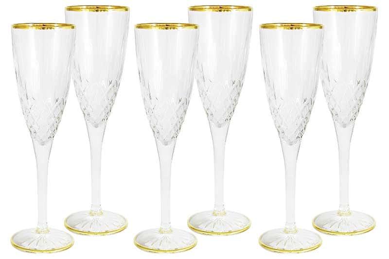 Уэльс Набор из 6 бокалов для шампанского Same Decorazione из Италии