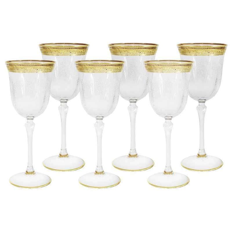 Прага Набор из 6 бокалов для вина Same Decorazione Италия в подарочной упаковке