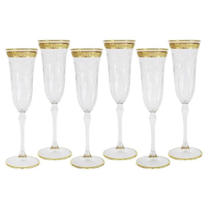 Прага Набор: 6 бокалов для шампанского Same Decorazione Италия в подарочной упаковке