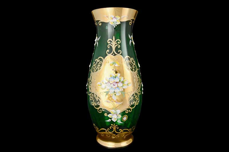 Лепка зеленая E-V Ваза для цветов 50 см Bohemia