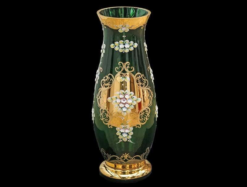 Лепка зеленая E-V Ваза для цветов Bohemia 60 см