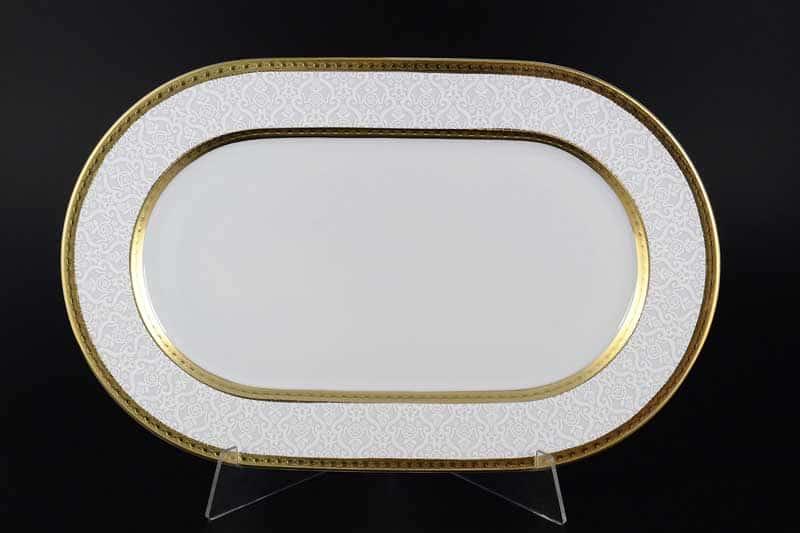 Constanza Diamond White Gold Блюдо овальное Falken 36 см