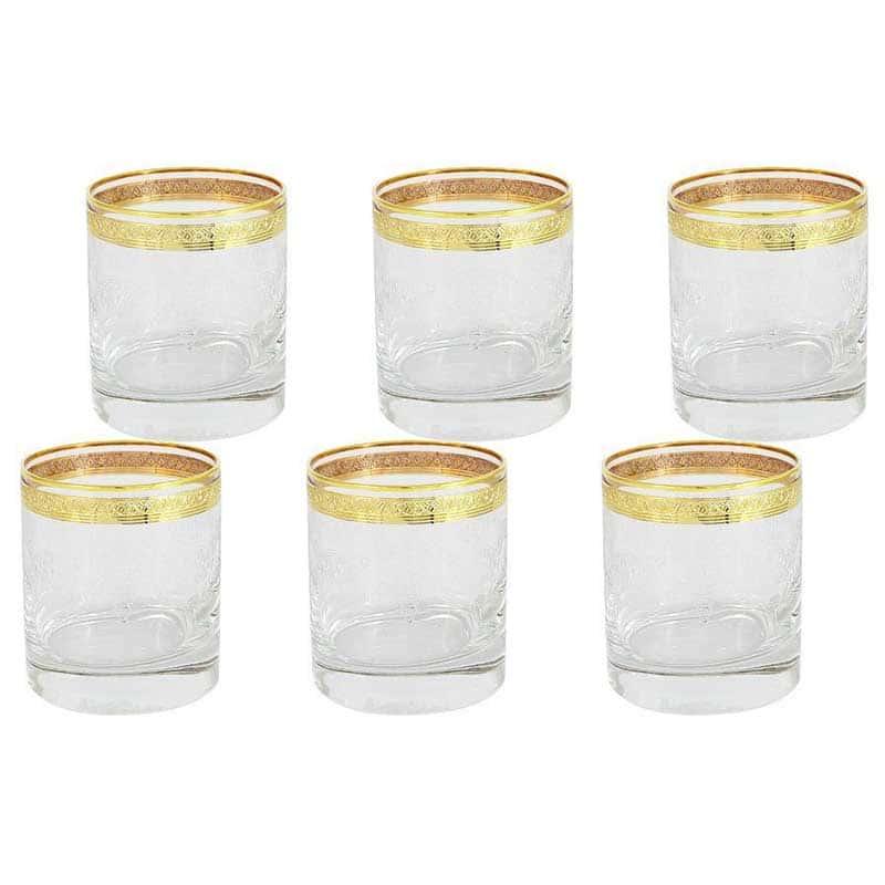 Прага Набор: 6 стаканов для виски Same Decorazione Италия в подарочной упаковке