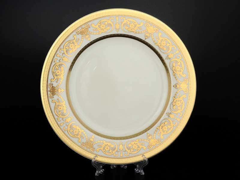 Constanza Cream Imperial Gold Блюдо круглое Falken 32 см