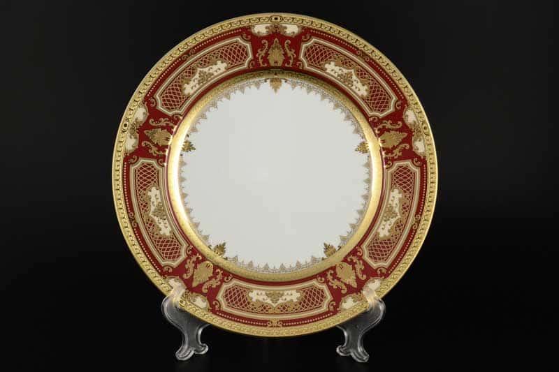 Donna bordeaux gold Набор тарелок FalkenPorzellan 28 см (6 шт)