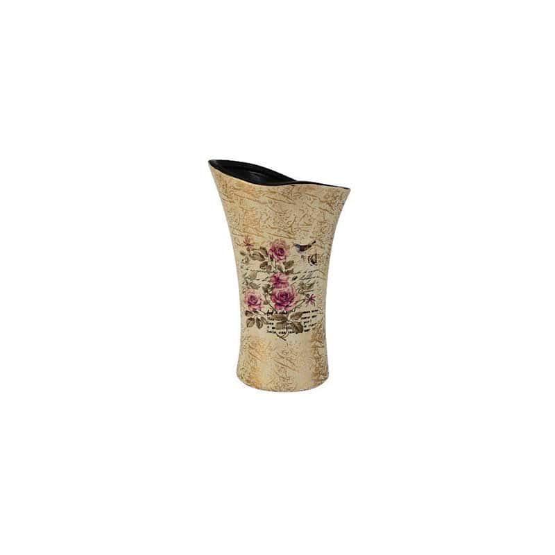 Розы Ваза для цветов (волна) малая Sunrise Ceramics из Китая 26 см.