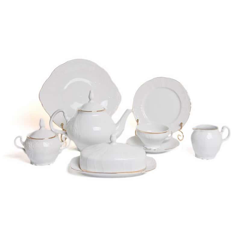 Бернадот белый 311011 Сервиз чайный  на 12 перс. 41 пред