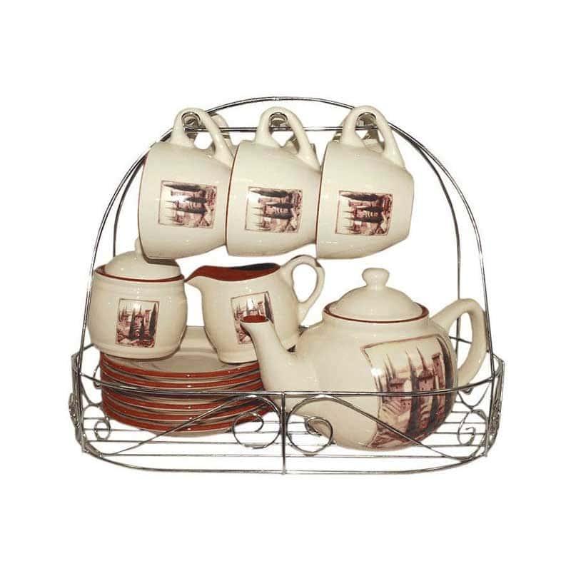 Итальянская деревня Чайный сервиз Terracotta из Китая в подарочной упаковке