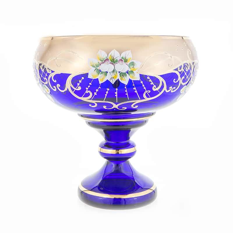 Лепка синяя 9823 Ваза для фруктов Potochka 26 см.