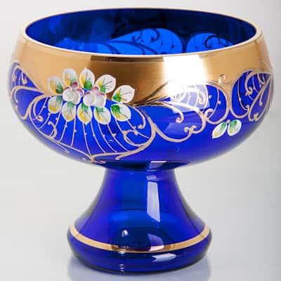 Лепка синяя 5849 Ваза для фруктов Potochka 26 см.