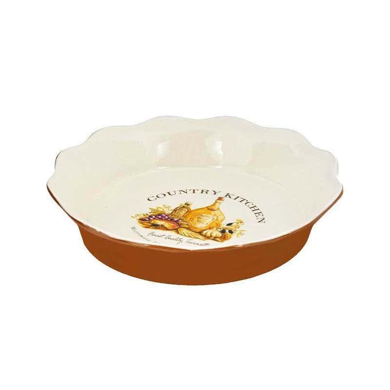 Сардиния Круглое блюдо для выпечки Terracotta Китай в подарочной упаковке
