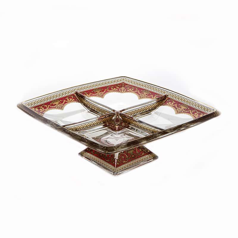 Империя Красная Менажница Astra Gold 28х28 см.