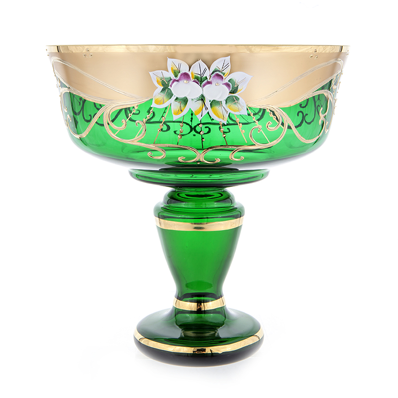 Лепка зеленая 6444  Ваза для фруктов Potochka 24 см.