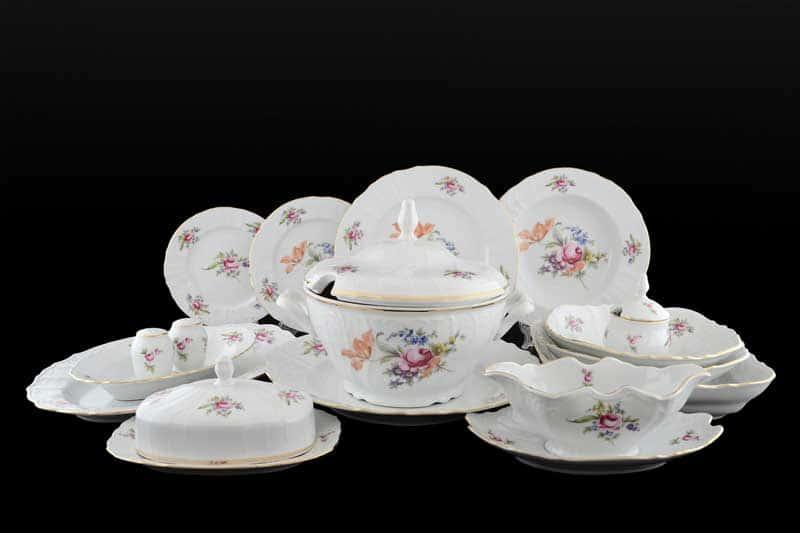 Бернадотт Полевой цветок Столовый сервиз на 12 персон 67 предметов