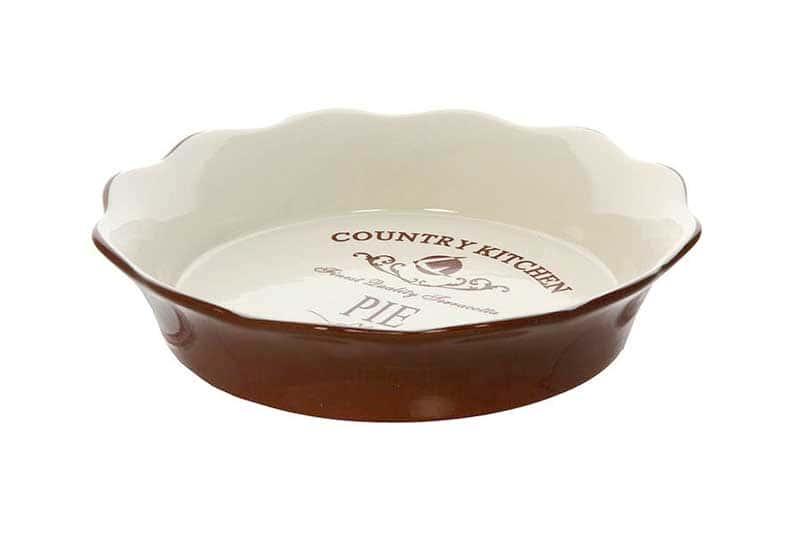 Кухня в стиле Кантри Круглое блюдо для выпечкиTerracotta Китай в подарочной упаковке