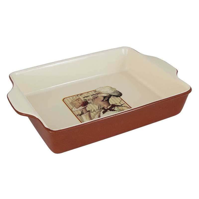 Шеф-повар Блюдо прямоугольное для выпечки Terracotta из Китая 33х23х6 см.
