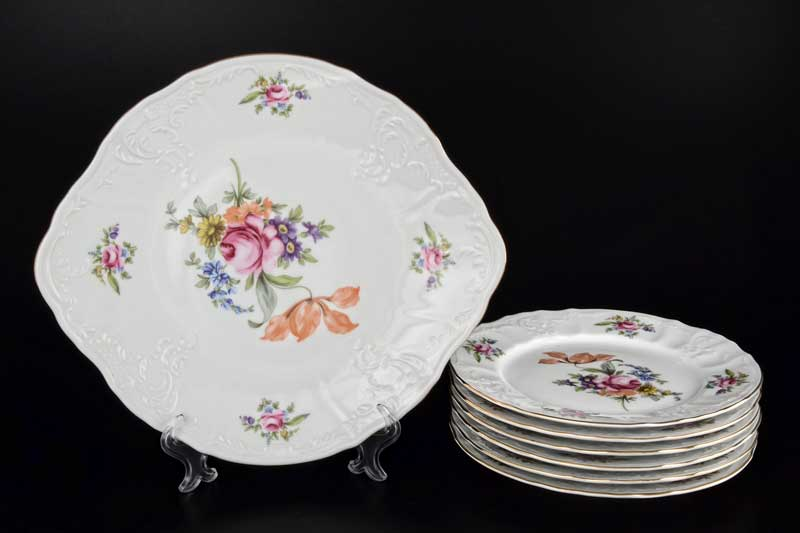 Бернадотт Полевой цветок 9011 Набор для торта 7 предметов