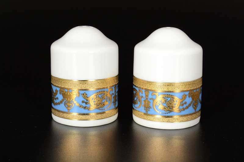Imperial Blue Gold Солонка и перечница FalkenPorzellan