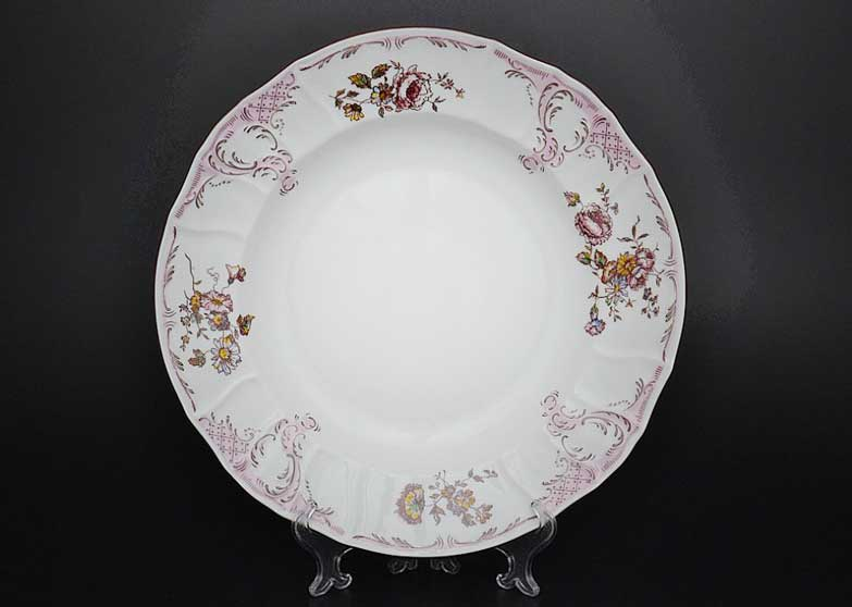 Бернадотт Розовый цветок 25058 Блюдо круглое 32 см