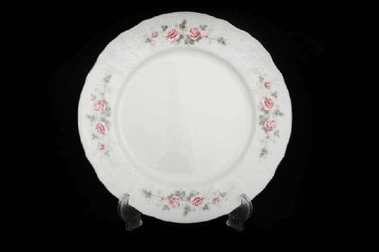 Бернадотт Серая роза платина 96021 Набор тарелок 25 см (6 шт) 17393