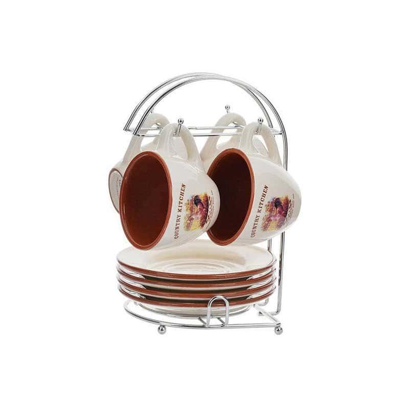 Деревенское утро Набор чайный на металлической подставке Terracotta Китай в подарочной упаковке