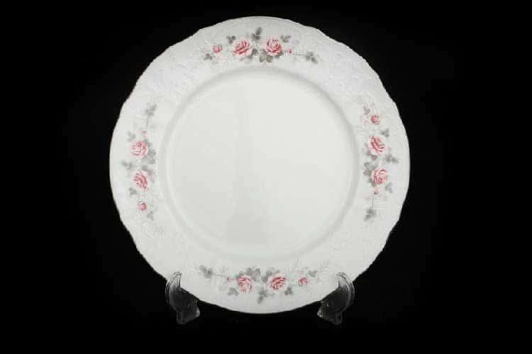 Бернадотт Серая роза платина  96021 Набор тарелок 19 см 17392