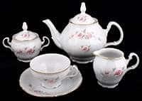 Роза серая Золото 5396011 Чайный сервиз Bernadotte 15 предметов