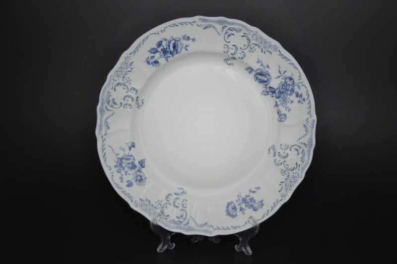 Бернадотт Синие розы  24074 Блюдо круглое 32 см 19287