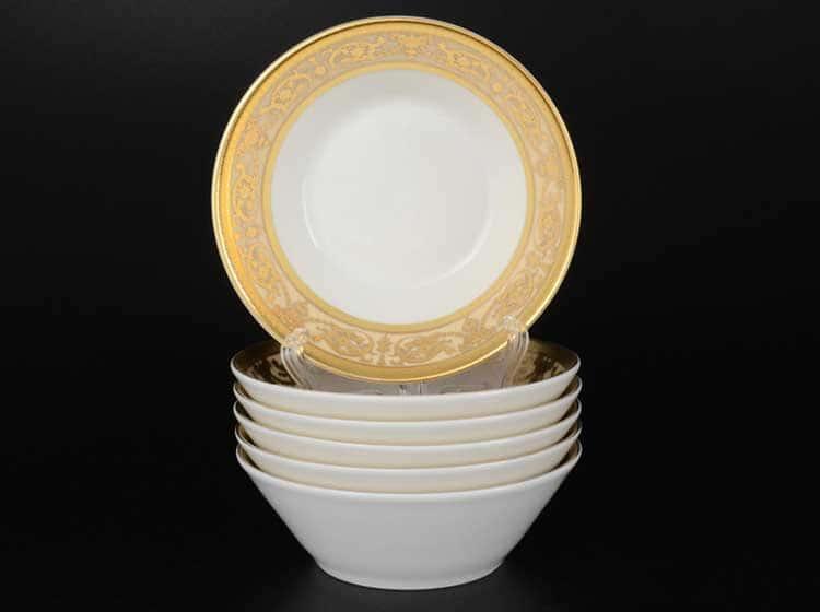 Imperial Creme Gold Набор салатников FalkenPorzellan 14 см (6 шт)