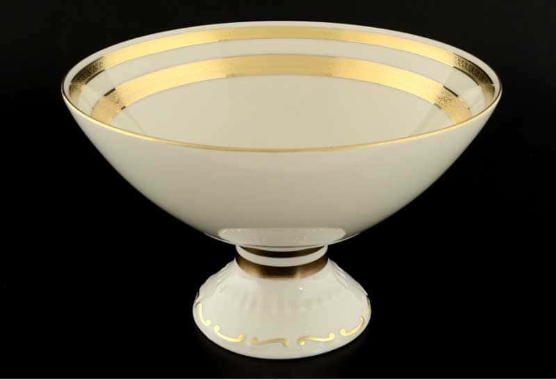 Cream Gold 9321 Фруктовница FalkenPorzellan 24 см на ножке