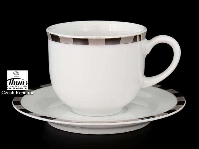 Опал Платиновые пластинки  Набор кофейных пар Thun 110 мл