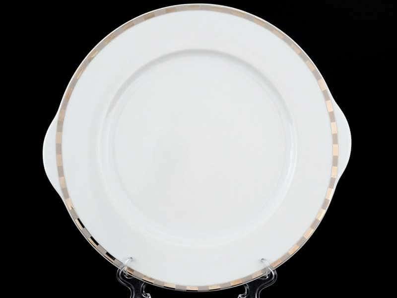 Опал Платиновые пластинки Тарелка для торта Thun 27 см