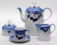 Вишни Каир Чайный сервиз Thun на 6 персон 15 предметов