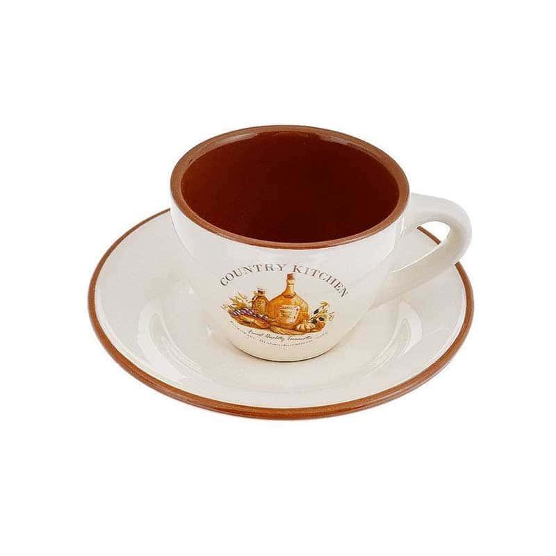 Сардиния Чашка с блюдцем для чая Terracotta из Китая
