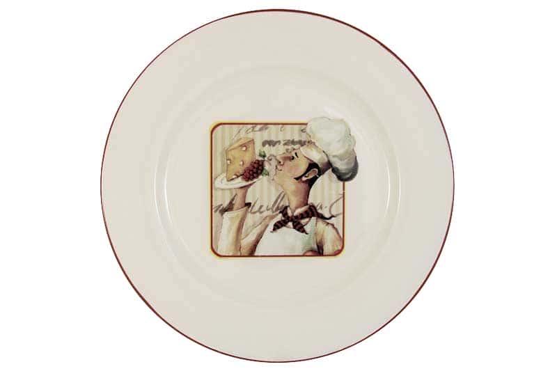 Шеф-повар Тарелка обеденная керамическая Terracotta из Китая 27x27x2,5 см.